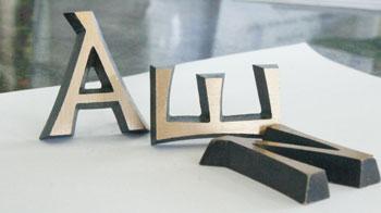 Eléments Bronze Lettres Décorations De Monuments à La Marbrerie